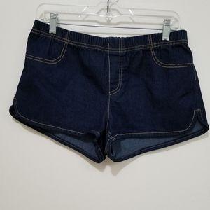 Bongo Denim Stretch Shorts Large